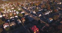 Reverse Aerial Shot of Typical Western Pennsylvania Neighborhood   Stock Footage