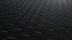 Graphene molecule grid. Stock Footage