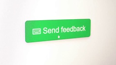 Send feedback button Stock Footage