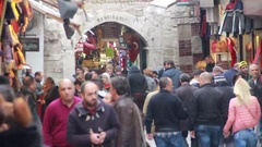 In front of Grand Bazaar istanbul city Stock Footage