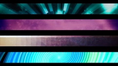 Abstract looping alpha embedded lower third group nineteen Stock Footage