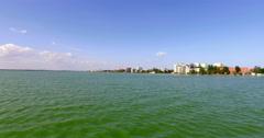 4K Skyline Of Constanta: Coastline, Beach, Hotels, Promenade Stock Footage