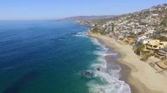 Flight along Laguna Beach, California Stock Footage