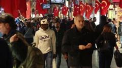 Istanbul istiklal street night Stock Footage