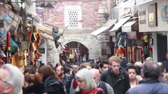 Istanbul in front of Grand Bazaar  Stock Footage