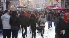 Istanbul istiklal street Stock Footage