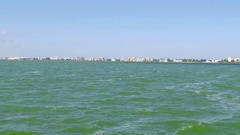 Footage of Constanta City on a sunny day,green sea Stock Footage