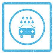 Car Shower Icon Rubber Stamp Stock Illustration