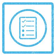 Checklist Page Icon Rubber Stamp Stock Illustration