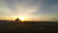 Sunrise time lapse with fog, traffic and clouds Stock Footage
