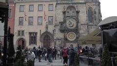 Astronomical Clock Orloj Stock Footage