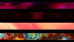 Abstract looping alpha embedded lower third group thirty seven Stock Footage