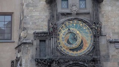 Prague (Czech Republic). Astronomical Clock Orloj Stock Footage