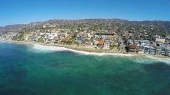 4K Laguna Beach - Main Beach Swell Stock Footage