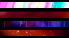 Abstract looping alpha embedded lower third group forty three Stock Footage