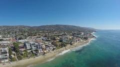 4K Laguna Beach - Flying South Stock Footage