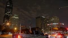 Timelapse of Houston Galleria Area Arkistovideo