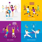 Sport Games Concept Piirros