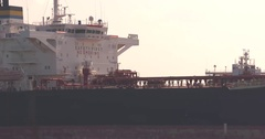 Oil tanker - close up bridge with nautical command center Stock Footage