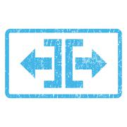 Divide Horizontal Direction Icon Rubber Stamp Stock Illustration