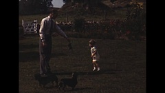 Vintage 16mm film, happy family 1950s Americana #1 Stock Footage