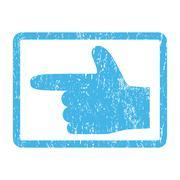 Hand Pointer Left Icon Rubber Stamp Stock Illustration