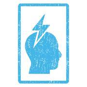 Headache Icon Rubber Stamp Stock Illustration