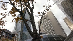 Downtown Vancouver tall office buildings Stock Footage