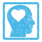 Lover Head Icon Rubber Stamp Stock Illustration