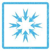 Pressure Arrows Icon Rubber Stamp Stock Illustration
