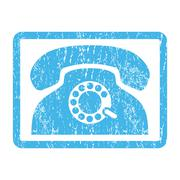 Pulse Phone Icon Rubber Stamp Piirros