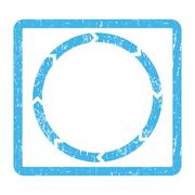 Rotation Icon Rubber Stamp Stock Illustration