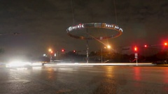 Night Timelapse of Houston Galleria Area Arkistovideo