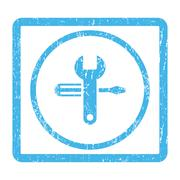 Tuning Icon Rubber Stamp Stock Illustration