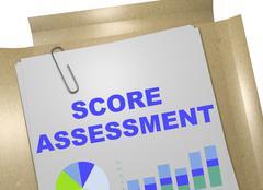 Score Assessment concept Stock Illustration