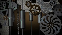Vintage mechanical background with rotating gears. Seamless loop Stock Footage