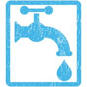 Water Tap Icon Rubber Stamp Stock Illustration