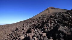 Volcanic mountain Teide and his unique landscape, Tenerife, Spain Stock Footage