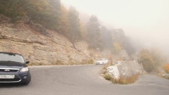 The car in the mountains Stock Footage