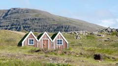 Small toy elf house in Iceland Stock Photos