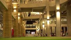 New Terminal of Phuket International Arport. Entrance. Night. 4K Stock Footage