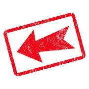 Arrow Left Icon Rubber Stamp Stock Illustration