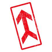 Arrow Up Icon Rubber Stamp Stock Illustration