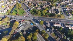 Tilting aerial view of Dudley, UK. Stock Footage