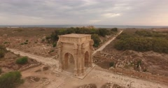The Arch of Septimius Severus in Leptis Magna. Stock Footage