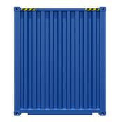 Blue shipping container Stock Illustration