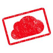 Cloud Icon Rubber Stamp Stock Illustration