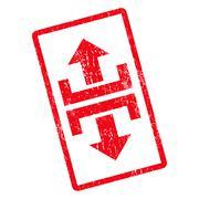 Divide Vertical Direction Icon Rubber Stamp Stock Illustration