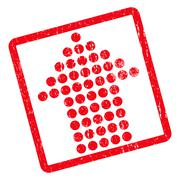Dotted Arrow Up Icon Rubber Stamp Stock Illustration