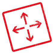 Expand Arrows Icon Rubber Stamp Stock Illustration